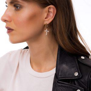 Ear stud stainless steel 304, freshwater pearls, for pierced ears.