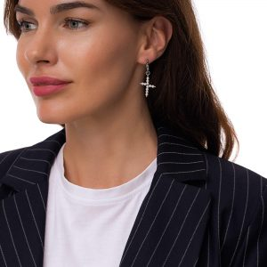 Ear stud stainless steel 304, freshwater pearls, for pierced ears