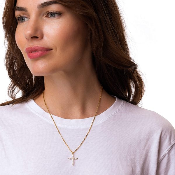 Shell pear, chain, clasp – stainless steel 304