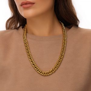 Chain, clasp — stainless steel 304.