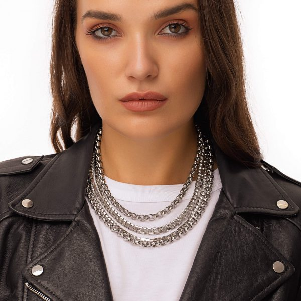 Chain rhinestone strass with stainless steel 304, chain, clasp — stainless steel 304.