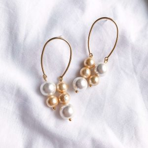 Shell pearl, textured shell pearl.