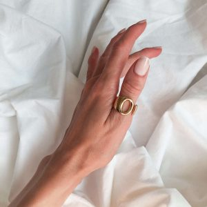 Brass with real 18k gold plated