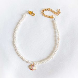 Shell – brass with enamel, chain, clasp – stainless steel304.