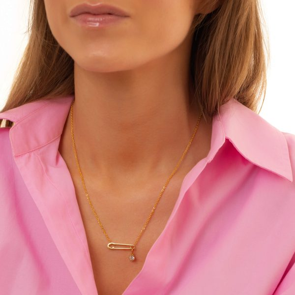 Cubic zirconiа, chain, clasp — stainless steel 304.