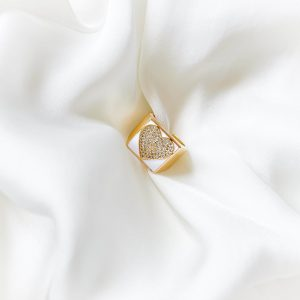 Brass with cubic zirconia and enamel, real gold 18k plated, cubic zirconia