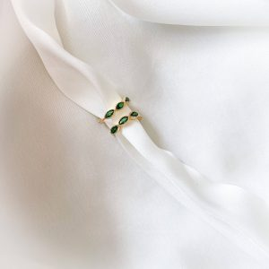 Brass with cubic zirconia, long - lasting plated, for pierced ears